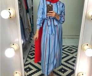 striped dress hijab image
