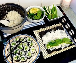 food, sushi, and healthy image