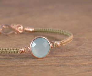 etsy, rose gold macrame, and friendship bracelet image