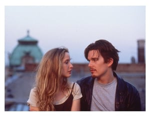 before sunrise, couple, and film image