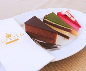 cakes, chocolate, and cooking image