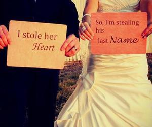love, wedding, and heart image