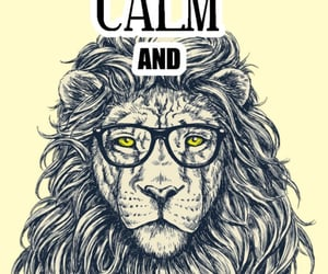lion, quotes, and keep calm and image