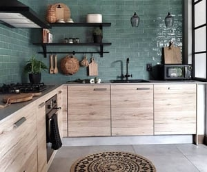 home, kitchen, and green image