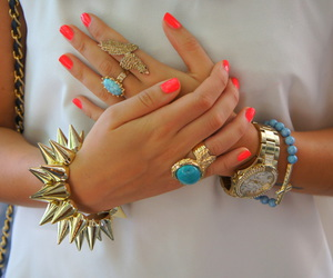 accessories, class, and nail image