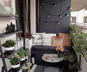 balcony, home, and plants image