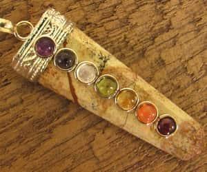 etsy, sevenchakra, and rainbow pendant image