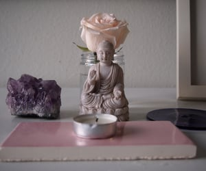 amethyst, Buddha, and pink image