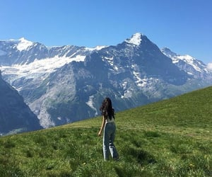 aesthetic, mountains, and girl image