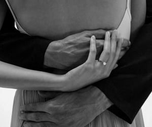 black, couple, and embrace image