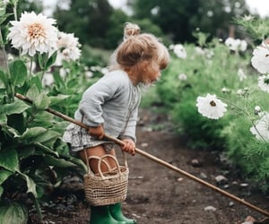 girl, nature, and family image