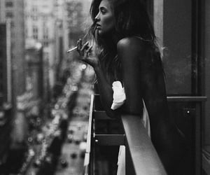 aesthetic, black and white, and dark image