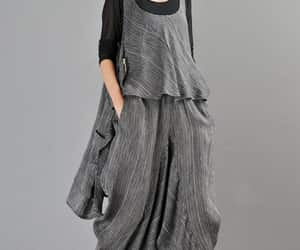 boho, summer maxi dress, and loose fitting dress image