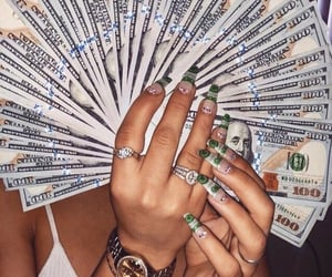 money, nails, and aesthetic image