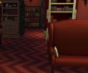books, couches, and game image