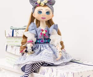 alice in wonderland, giftforchristmas, and boudoir textile doll image