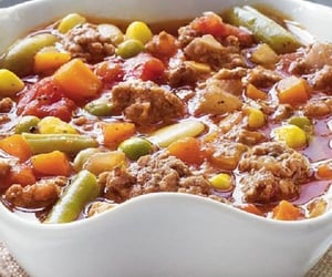 beef, vegetables, and dinner image