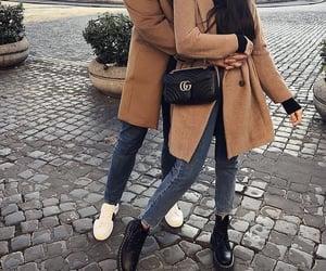 bag, city, and couple image