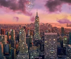 glitter, city, and new york image