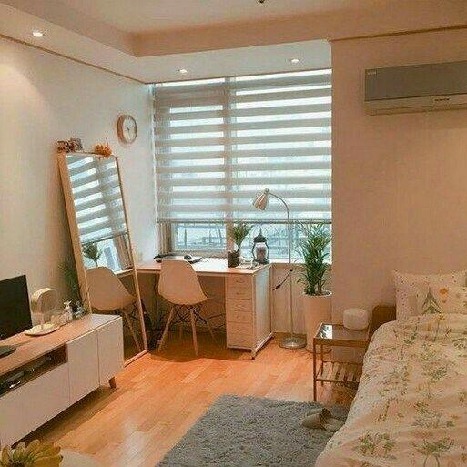 bedroom, dorm, and college dorm image