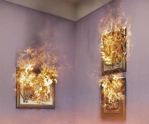 fire, art, and paintings image