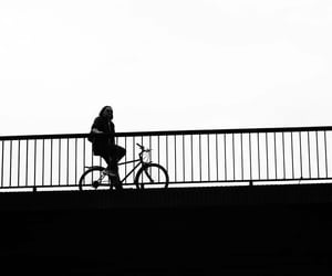 b&w, bicycle, and black and white image