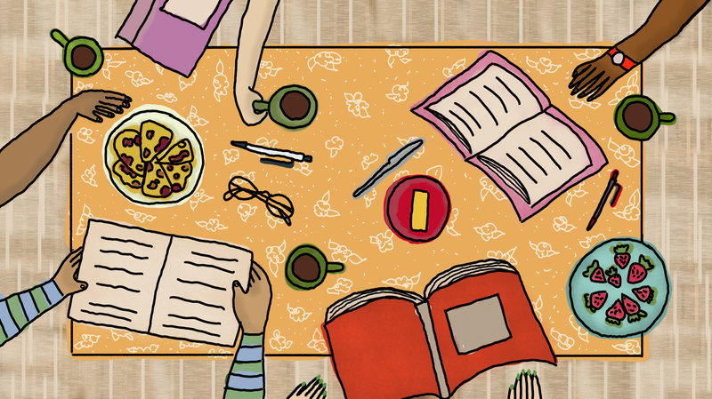 article, book, and book club image