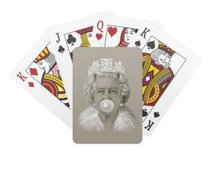 playing cards, queen elizabeth ii art, and queen elizabeth ll image