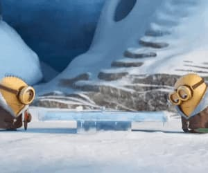 funny, gif, and minions image
