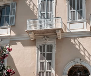 architecture, balcony, and beige image