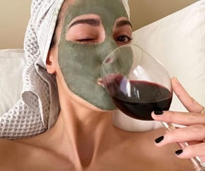 wine and face mask image
