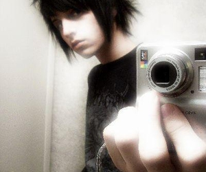 black hair, emo boy, and emo image