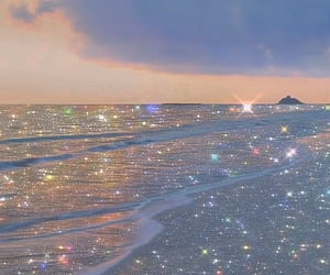 aesthetic, glitter, and beach image