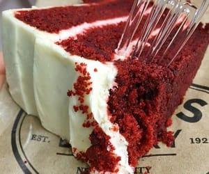cake, red velvet, and dessert image