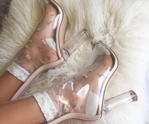high heels, see through, and simple image