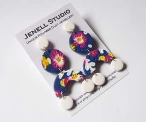 etsy, polymerclay, and dangle earrings image