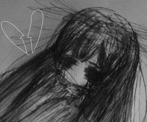 aesthetic, anime, and sad image