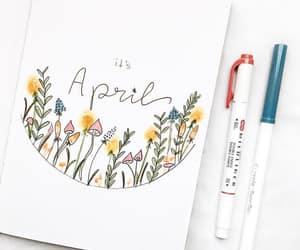april, bulletjournal, and journaling image