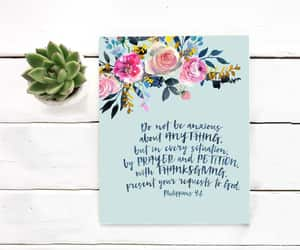 hand lettering, do not be anxious, and typography print image