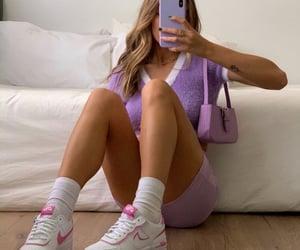 fashion, purple, and pink image