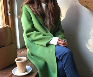 brown, fashion, and green image