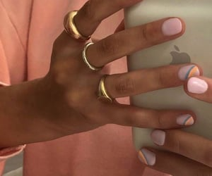 iphone, nails, and ring image