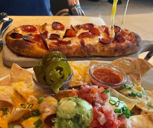 cheese, food, and nachos image