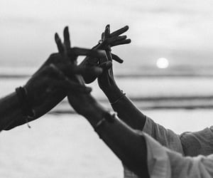 beach, couple, and memories image