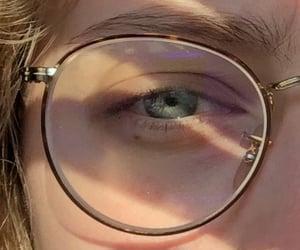eyes, glasses, and bleueyes image