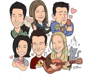 chandler, phoebe, and ross image