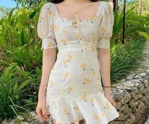 girl, cherry, and dress image