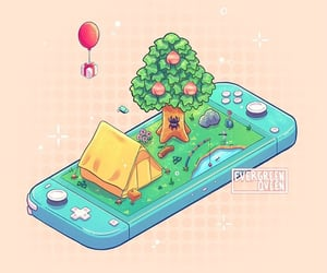 animal crossing, gaming, and nintendo image