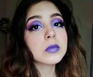 make up, maquillaje, and morado image