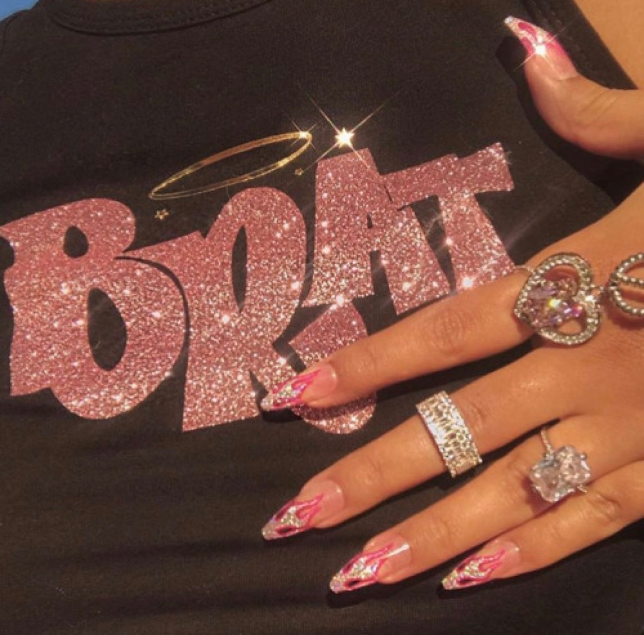 aesthetic, nails, and vintage image